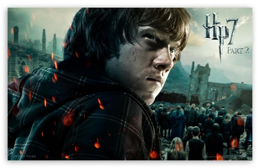 Harry Potter And The Deathly Hallows Part 2 Ron HD wallpaper for Wide 16:10 5:3 Widescreen WHXGA WQXGA WUXGA WXGA WGA ; Mobile 5:3 - WGA ;