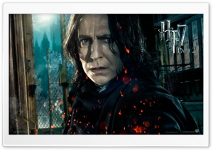Harry Potter And The Deathly Hallows Part 2 Snape HD Wide Wallpaper for Widescreen