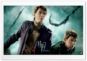 Harry Potter And The Deathly Hallows Part 2 Twins HD Wide Wallpaper for Widescreen