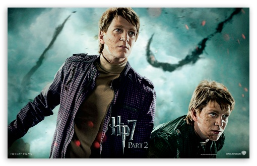 Harry Potter And The Deathly Hallows Part 2 Twins HD wallpaper for Wide 16:10 5:3 Widescreen WHXGA WQXGA WUXGA WXGA WGA ; Mobile 5:3 - WGA ;