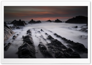 Hartland Quay Rock Formations Ultra HD Wallpaper for 4K UHD Widescreen desktop, tablet & smartphone