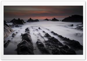 Hartland Quay Rock Formations HD Wide Wallpaper for 4K UHD Widescreen desktop & smartphone