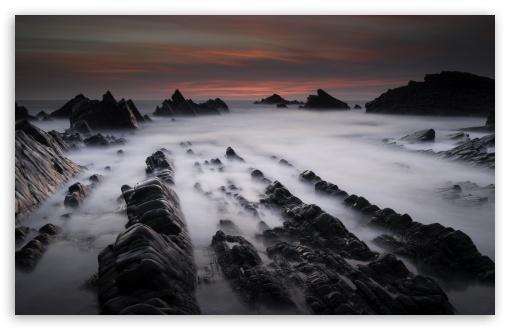 Download Hartland Quay Rock Formations UltraHD Wallpaper