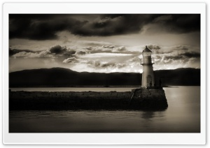 Haunted Lighthouse HD Wide Wallpaper for Widescreen