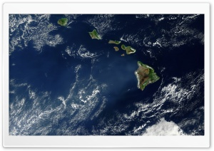 Hawaii Satelite View HD Wide Wallpaper for Widescreen