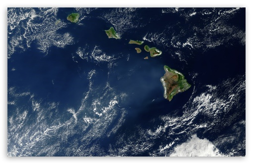 Hawaii Satelite View HD desktop wallpaper