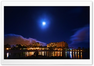 Hawaii Summer Night HD Wide Wallpaper for 4K UHD Widescreen desktop & smartphone