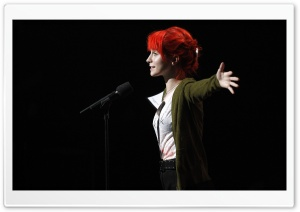 Hayley Williams On Stage HD Wide Wallpaper for Widescreen
