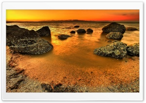 HDR Beach HD Wide Wallpaper for Widescreen