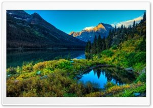 HDR Mountains Lake HD Wide Wallpaper for 4K UHD Widescreen desktop & smartphone