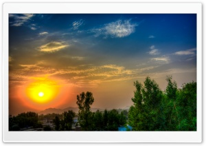 HDR Sunset HD Wide Wallpaper for Widescreen