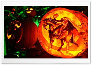 Headless Horseman Jack O Lantern Ultra HD Wallpaper for 4K UHD Widescreen desktop, tablet & smartphone