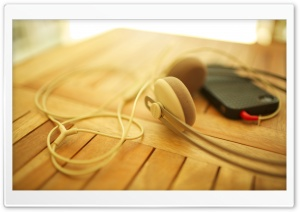 Headphones My iPhone HD Wide Wallpaper for Widescreen
