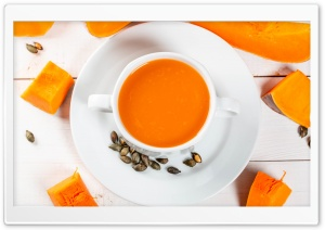 Healthy Pumpkin Soup Ultra HD Wallpaper for 4K UHD Widescreen desktop, tablet & smartphone