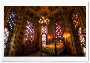 Hearst Castle Bedroom HD Wide Wallpaper for Widescreen