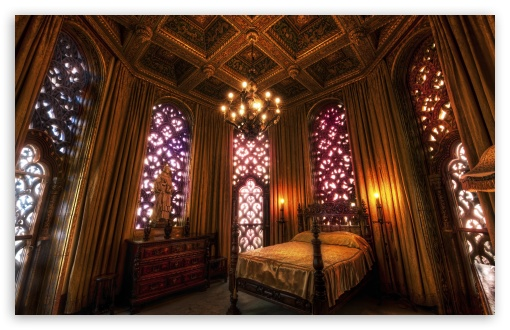Download Hearst Castle Bedroom HD Wallpaper