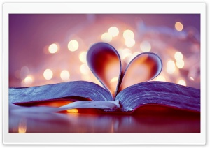 Heart Book HD Wide Wallpaper For 4K UHD Widescreen Desktop Smartphone