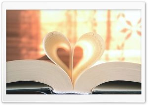 Heart Book HD Wide Wallpaper for Widescreen