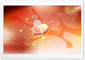 Heart Gift HD Wide Wallpaper for Widescreen