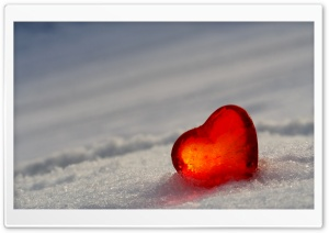 Heart In Snow HD Wide Wallpaper for Widescreen