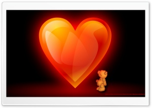 Heart Of Flame Teddy HD Wide Wallpaper for Widescreen