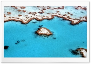 Heart Reef, Great Barrier Reef HD Wide Wallpaper for Widescreen