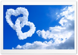 Heart Shaped Clouds HD Wide Wallpaper for Widescreen