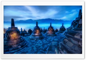 Hearts Of The Buddhas, Indonesia HD Wide Wallpaper for Widescreen