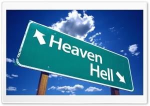 Heaven And Hell Sign HD Wide Wallpaper for 4K UHD Widescreen desktop & smartphone