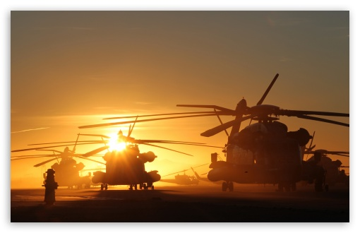 Helicopters At Sunset HD wallpaper for Wide 16:10 5:3 Widescreen WHXGA WQXGA WUXGA WXGA WGA ; HD 16:9 High Definition WQHD QWXGA 1080p 900p 720p QHD nHD ; UHD 16:9 WQHD QWXGA 1080p 900p 720p QHD nHD ; Standard 3:2 Fullscreen DVGA HVGA HQVGA devices ( Apple PowerBook G4 iPhone 4 3G 3GS iPod Touch ) ; Mobile 5:3 3:2 16:9 - WGA DVGA HVGA HQVGA devices ( Apple PowerBook G4 iPhone 4 3G 3GS iPod Touch ) WQHD QWXGA 1080p 900p 720p QHD nHD ; Dual 4:3 5:4 UXGA XGA SVGA QSXGA SXGA ;