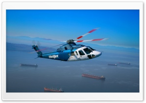 Helijet Helicopter HD Wide Wallpaper for Widescreen