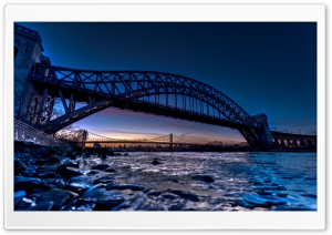 Hell Gate Bridge HD Wide Wallpaper for Widescreen