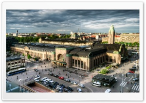 Helsinki-Central Railway Station HD Wide Wallpaper for 4K UHD Widescreen desktop & smartphone