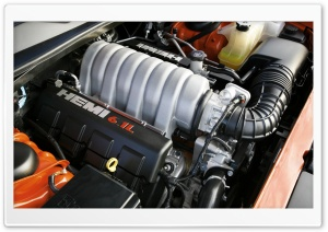 Hemi 6.1L Engine HD Wide Wallpaper for Widescreen