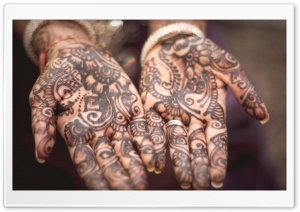 Henna Hands HD Wide Wallpaper for Widescreen