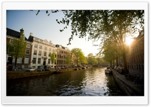 Herengracht, Amsterdam   Summer 2011 HD Wide Wallpaper for Widescreen