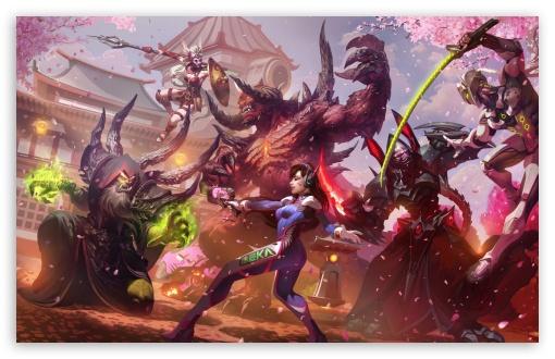 Heroes Of The Storm Wallpaper 1080p: Heroes Of The Storm, Hanamura Showdown, D.Va, Cassia