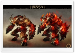 Heroes VI, Demons, Inferno HD Wide Wallpaper for Widescreen