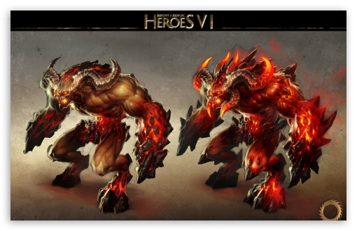 Heroes VI, Demons, Inferno HD wallpaper for Wide 16:10 Widescreen WHXGA WQXGA WUXGA WXGA ; Other 3:2 DVGA HVGA HQVGA devices ( Apple PowerBook G4 iPhone 4 3G 3GS iPod Touch ) ; Mobile iPhone - HVGA Smartphone ( Apple iPhone iPod BlackBerry HTC Samsung Nokia ) ;