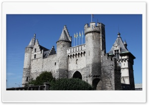 Het Steen   Antwerp, Belgium HD Wide Wallpaper for Widescreen