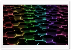Hexagon 3D HD Wide Wallpaper for Widescreen