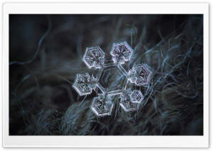 Hexagonal Snowflake HD Wide Wallpaper for Widescreen