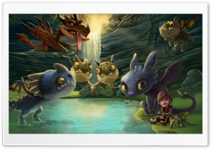 Hiccup, Toothless and friends HD Wide Wallpaper for Widescreen