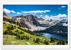 Hidden Lake Glacier National Park Montana HD Wide Wallpaper for Widescreen