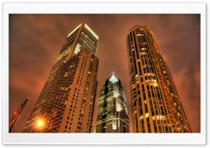 High Buildings HDR HD Wide Wallpaper for Widescreen