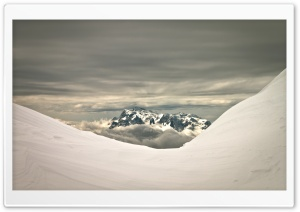 High Mountain View, Winter Ultra HD Wallpaper for 4K UHD Widescreen desktop, tablet & smartphone