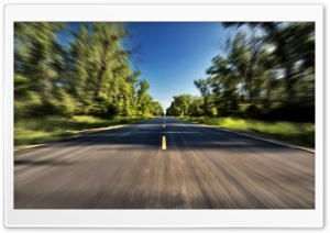 High Speed On The Road HD Wide Wallpaper for Widescreen