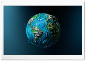 High-Tech Earth HD Wide Wallpaper for 4K UHD Widescreen desktop & smartphone