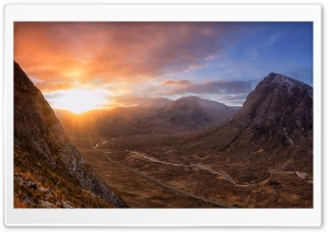Highland Sunrise HD Wide Wallpaper for 4K UHD Widescreen desktop & smartphone