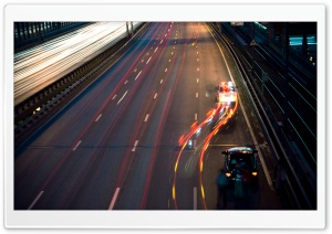 Highway At Night HD Wide Wallpaper for Widescreen